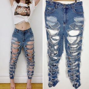 VINTAGE Bill Blass destroyed hollowed out jeans